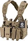 Loaded Gear Tactical Chest Rig Light Outdoor Adjustable (Tan)