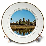 3dRose Danita Delimont - Temples - Angkor Wat temple complex Mirror image reflection, Siem Reap, Cambodia - 8 inch Porcelain Plate (cp_257327_1)
