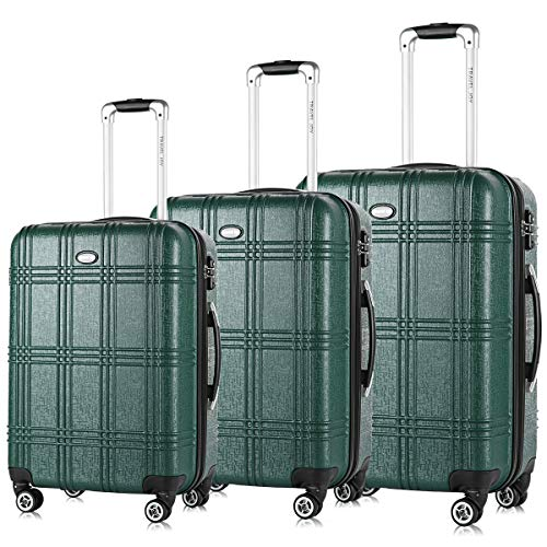 Expandable Spinner Luggage Set,TSA lightweight Hardside Luggage Sets, 20