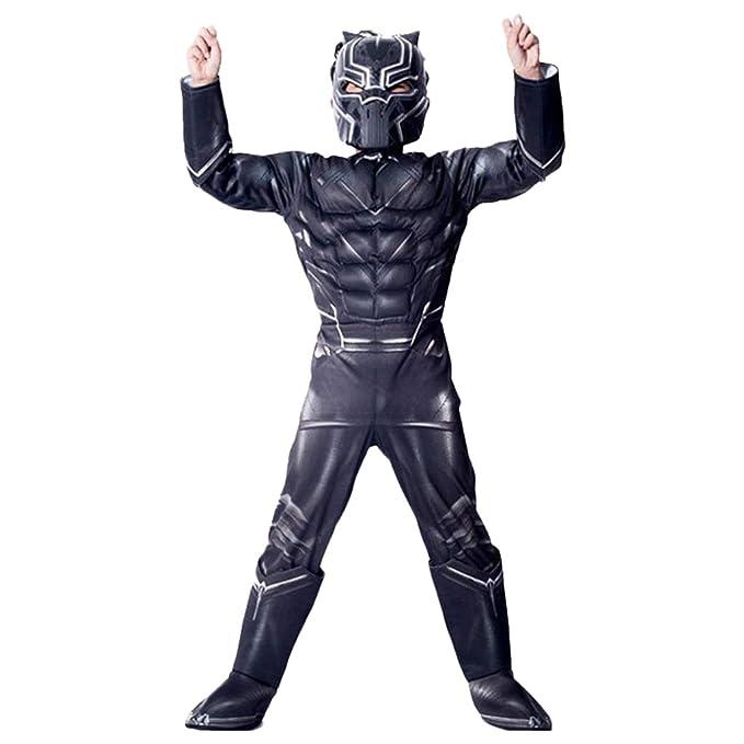 QWEASZER Marvel Movie traje de pantera negra para niños ...