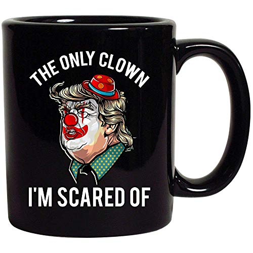 Clown Prank Anti Donald Trump Democrat Halloween Black Ceramic Coffee Tea Mug Cup 11oz