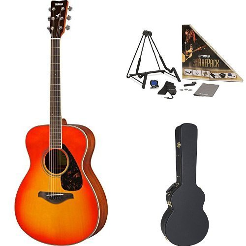 Yamaha FS820 Small Body Acoustic Guitar Autumn Burst with Yamaha Concert-Size Guitar Case and Accessory Pack [並行輸入品]   B07FS9M362