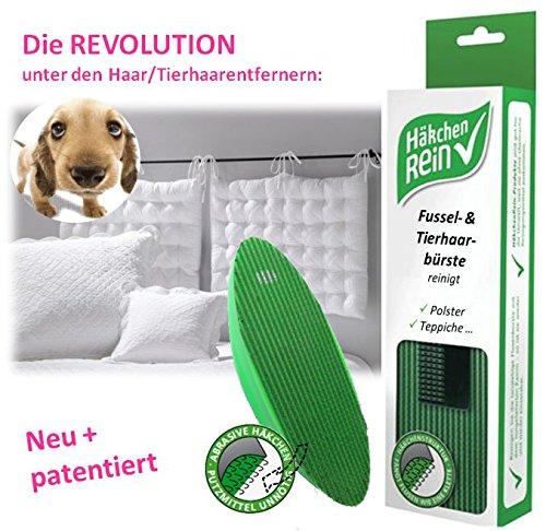 Fusselbürste Textil Haare Tierhaare Kleider Bett Teppich Auto, mit Häkchenmaterial