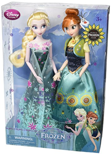 Disney Frozen Fever Anna and Elsa Dolls Summer Solstice Gift Set 12'' by Disney Frozen