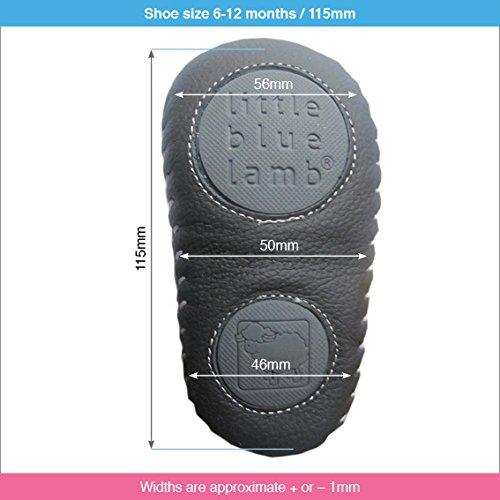 Espadrilles chaussures de bébé cuir souple - Garcon - Bleu 6-12 mois
