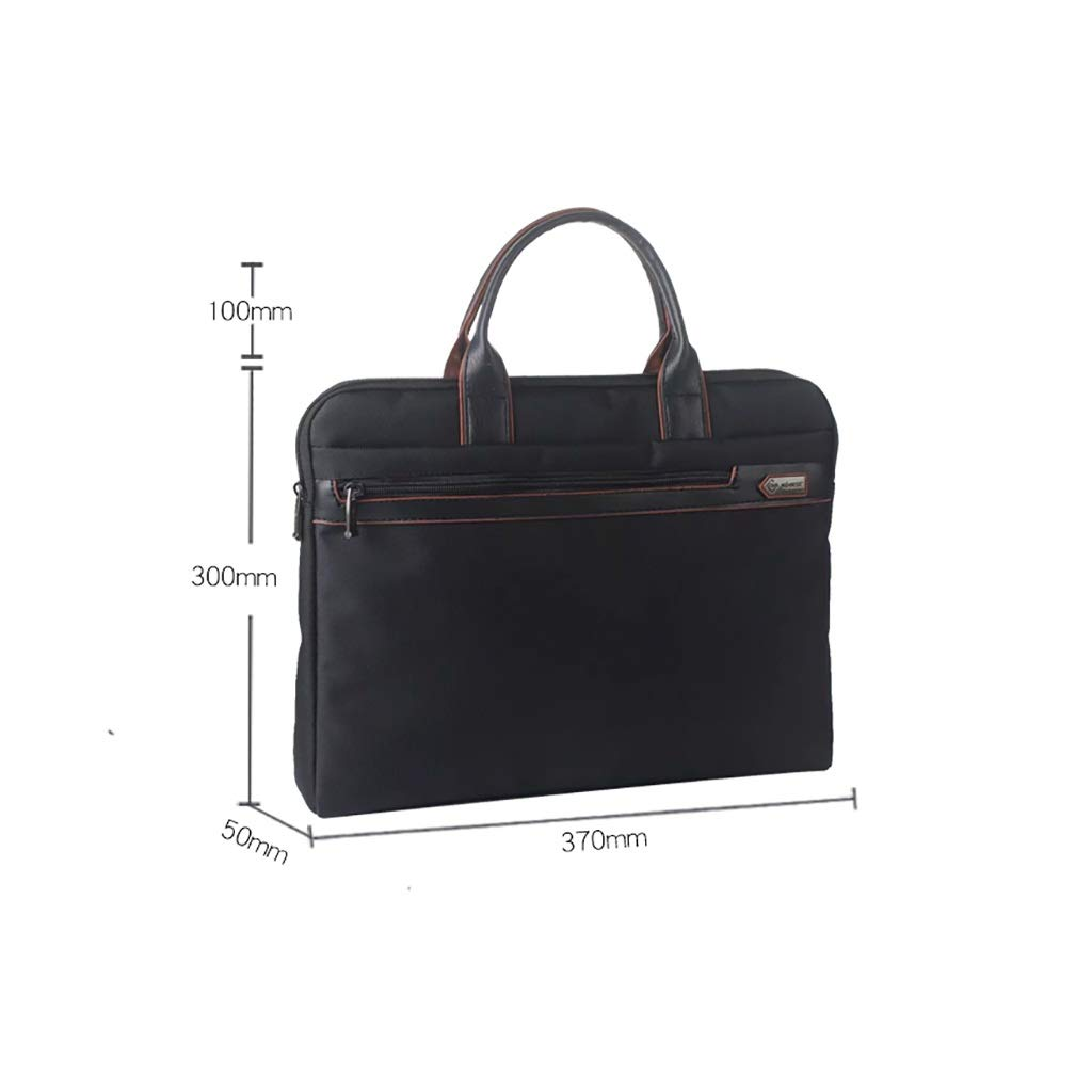 QSJY File Cabinets Zipper Archives Include Office Bags, Canvas Waterproof Conference Briefcases 37×30×5cm (Color : Black, Size : 37×30×5cm) by QSJY File Cabinets