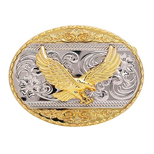 (Flying Eagle Belt Buckle,Western Cowboy Gold Plated Larger Belt Buckles for Men and Women Christmas Gift)