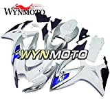 WYNMOTO Motorcycle Body Kit For Suzuki GSXR 600 750 K6 2006 2007 Sportbike Flat White Sliver Blue ABS Plastic Injection Full Fairings