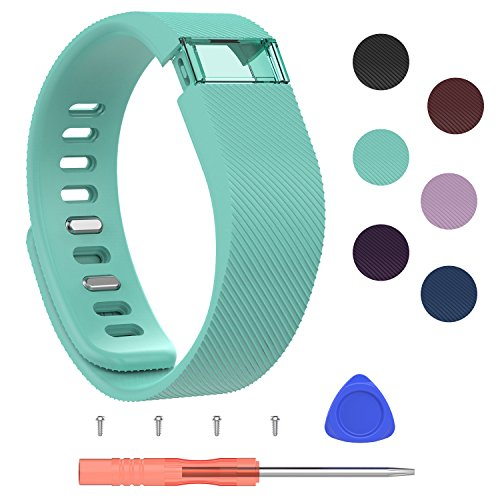Strap Original Wrist (I-SMILE Fitbit Charge Bands, Original Version Adjustable Replacement Wristband for Fitbit Charge/Wireless Activity Bracelet Strap Sport Wristband (Small, Teal))