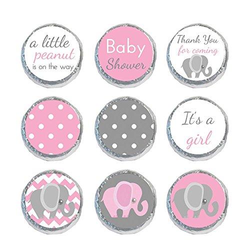 Mini Candy Stickers Light Pink & Gray Elephant Set of 324