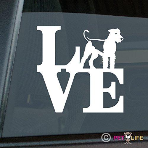 - Love Airedale Sticker Vinyl Auto Window park terrier