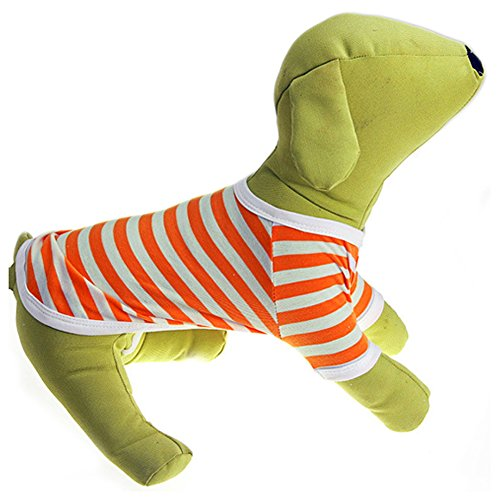 Delight eShop Pet Puppy Small Dog Cat Pet stripe Vest POLO T Shirt Apparel Clothes Summer (XL) (XS) (Winnie The Pooh Vest Disney Costume)