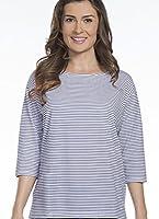 Jockey Women's Sleepwear Starfish Stripe 3/4 Sleeve Top