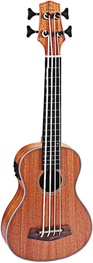 Exceart Ukelele de Palisandro Acústico Uke 4 Cuerdas Guitarra Pequeña para Principiantes Estudiantes Niños Bajo (Marrón Claro)