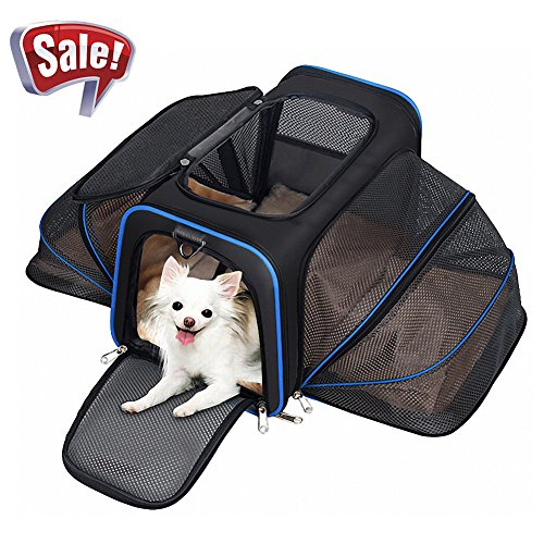 YOUTHINK Travel Airline Approved Cage Crate Wheel Carriers for Cat Puppy Dog (Wheels Airline Approved Pet Carrier)