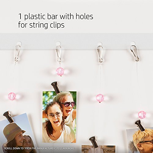 HP Sprocket Heart-Shaped Photo Display with Pink Crystals and Clips (2HS27A)