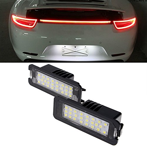 Price comparison product image 2X Xenon White Error Free 24 1210-SMD LED Number License Plate Light For PORSCHE Boxster Cayman Carrera Cayenne