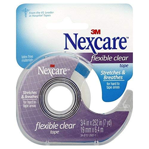 Nexcare Clear Tape 3/4'' X 7 Yd (Pack of 4) by Nexcare