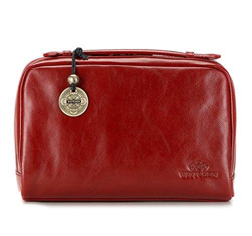 18 Collection Italy Largeur 21 de taille Rouge La 3 Cuir cm 25 Rouge Wittchen x 3 Couleur 382 grain Vanity cm qZwW1z