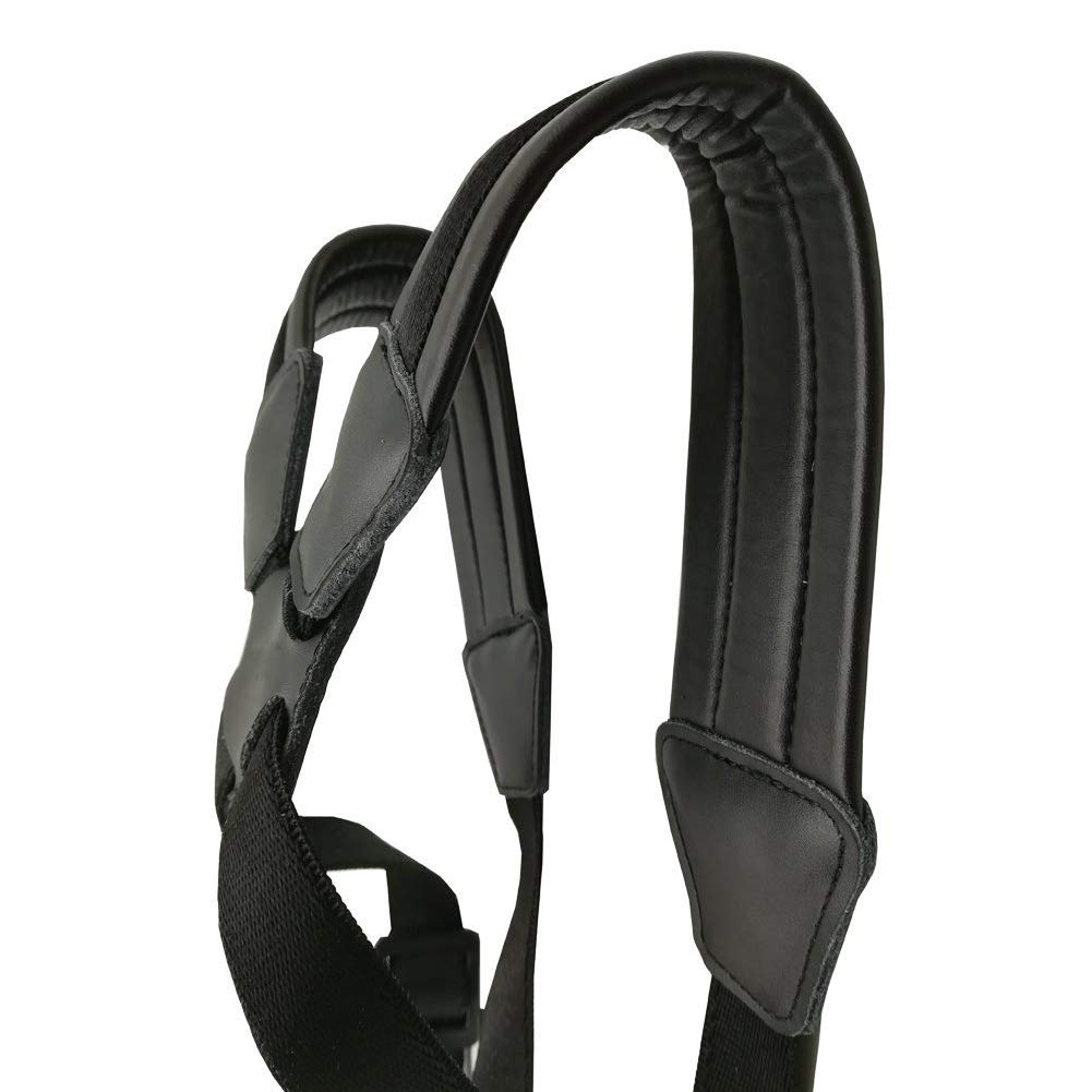 Leather Padded Saxophone Strap Professional Saxophone Harness Straps for Baritone Alto Tenor Soprano Sax