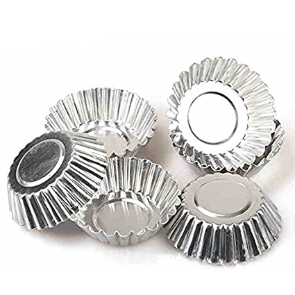 Rolex Aluminium Cup Tart Mould, 6 pieces, Silver, for 6 muffins