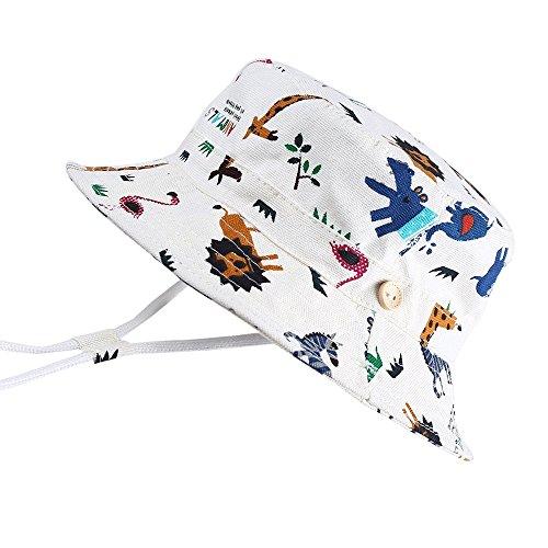 "Hisharry Baby Toddler Kids Boy Girl Bucket Reversible Sun Protection Animal Hat 19.6""(50cm)(12-24M) from Hisharry"