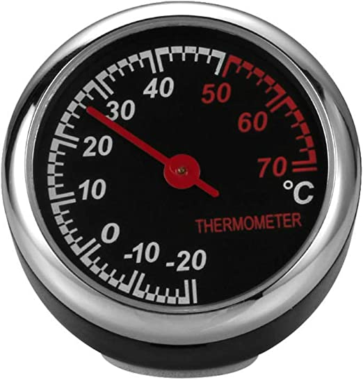 Ogquaton//Mini High Precision Auto Armaturenbrett Round Digital Thermometer Langlebig und n/ützlich