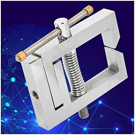 QWXZ Adjustable portable fixture Stainless Steel Thrust Tension Meter Holder Micrometer Clamp For Force Test Large clamping force and firm fixation