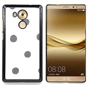 BullDog Case - FOR Huawei Mate 8 - Dot White Gray Minimalistic - Dise???¡¯???¡Ào para el caso de la cubierta de pl???¡¯????stico Chicas