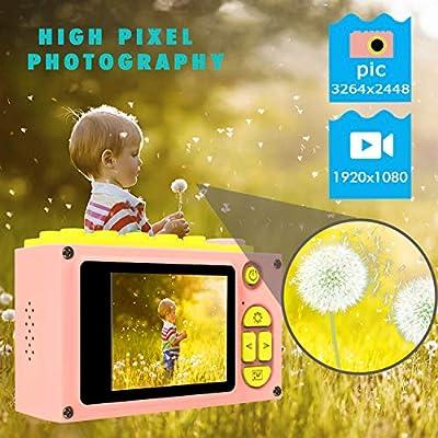 ShinePick Kids Digital Camera Mini 2 Inch Screen Children's Camera 8MP HD Digital Camera with Silicone Soft Cover & 256M SD Card(Blue)