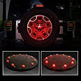 IPARTS Red Light Spare Wheel Tire Cover LED Third Brake Light for Jeep Wrangler JK 2007-2017