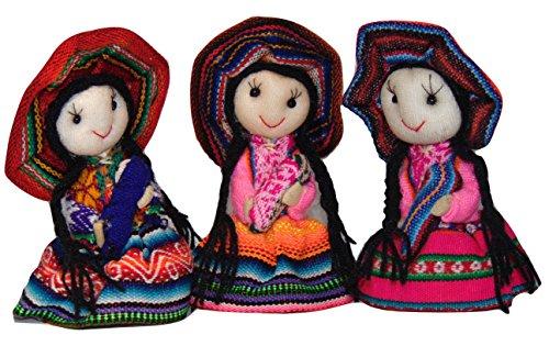 #1194 - 12 Pair Pack Worry Doll Earrings Girls Jewelry Peru Fair Trade Artisan from Sanyork Fair Trade