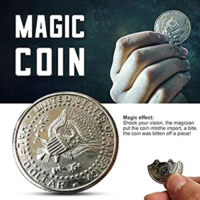 Magic Coins Bite Restored Illusion Coin Magician Coin for Magic Show Pack of 2 : Baby