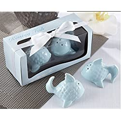 Kissing Fish Salt and Pepper Shakers For Wedding Favors, Set of 100