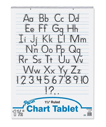 Pacon Chart Tablets w/Glued Top, Ruled, 24 x 32, White, 70 Sheets/Pad ()