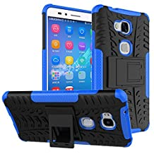 Huawei Honor 5X / GR5 Case,Mama Mouth Shockproof Heavy Duty Combo Hybrid Rugged Dual Layer Grip Cover with Kickstand For Huawei Honor 5X / GR5 KII-L22 5.5 Inch Smartphone,Blue