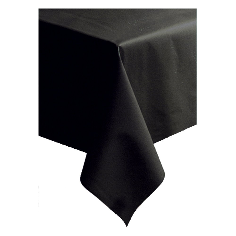 Hoffmaster 220836 Linen-Like Color In Depth Tablecover, 108'' Length x 50'' Width, Black (Case of 20)