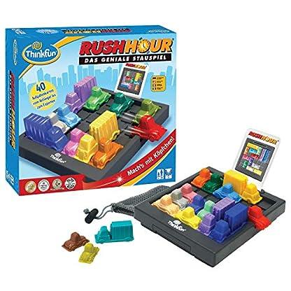 ThinkFun Rush Hour, Logik- und Strategiespiel, für Kinder und Erwachsene, Brettspiel ab 1 Spieler, ab 8 Jahren 2