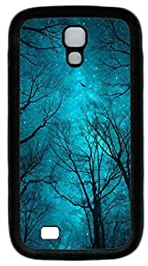 Galaxy S4 Case, Personalized Protective Soft Rubber TPU Black Edge Blue Night Case Cover for Samsung Galaxy S4 I9500