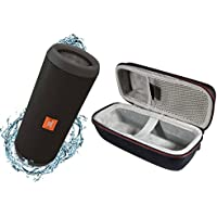 JBL Flip 3 Portable Splashproof Bluetooth Wireless Speaker Bundle with Hardshell Case - Black