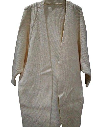 Sweater Cardigan Chauve Moollyfox Beige Manches Lâche Manteaux Femmes Casual Vrac souris Tricot wwFE80Cq