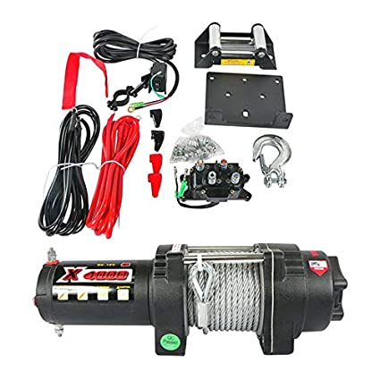NEW COMPLETE 12 VOLT WINCH KIT ASSEMBLY FITS