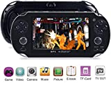 Alifa Portable 4.3'' 32Bit Built-in 8GB Handheld Video Game Console Player Multicolor Electronic Toy (Black)