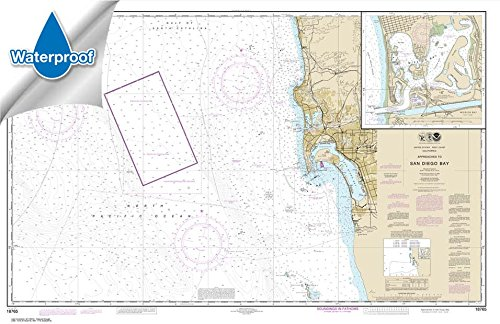 NOAA Chart 18765: Approaches to San Diego Bay; Mission Bay, 30.7 X 47.3, WATERPROOF