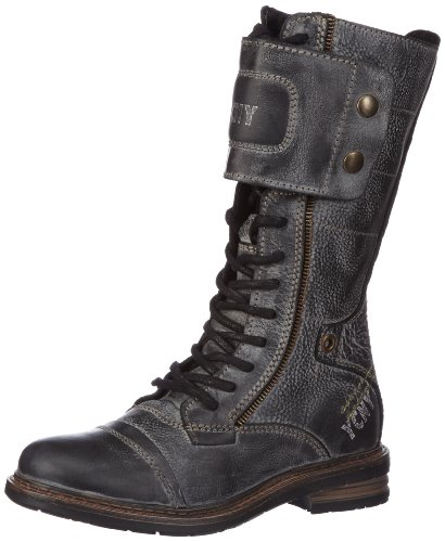 Yellow Cab SOLDIER Damen Combat Boots Schwarz (Black)