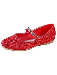 Little Angel Britt Lacy Glitter Dress Flats for Girls | Adjustable Ankle Strap | Comfortable Flats