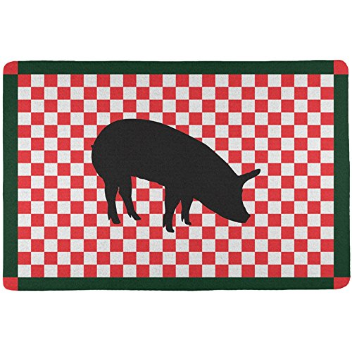 Country Kitchen Checkerboard Pig All Over Placemat