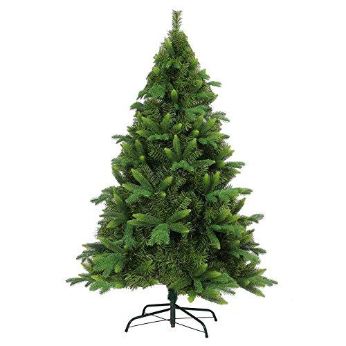 Shatchi 2,1m 210cm Deluxe con 3Puntas Diferentes Decoración de Navidad árbol de Navidad Artificial