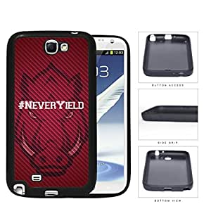 Hashtag Never Yield School Spirit Slogan Chant Samsung Galaxy Note II 2 N7100 Rubber Silicone TPU Cell Phone Case