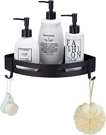 Gricol Bathroom Shower Caddy Adhesive Corner Shelf Triangle silver